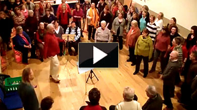 The Forres Big Choir video of Singabahambayo Thina