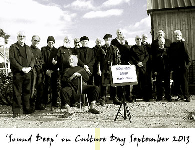 Sounds Deep Men's Choir on Culture Day Findhorn 21 September 2013